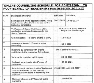 Revised counseling schedule (LEET-2021)